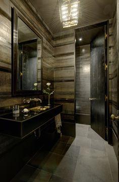 20 Elegant Rooms with Dark Paint & Wallcoverings