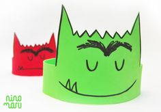 """Crown of """"The Monster of Colors"""" - Crown of """"The Monster of Colors"""" Monster Activities, Learning Activities, Preschool Activities, Emotions Preschool, Preschool Art, Teaching Kids, Kids Learning, Diy Agenda, Apple Theme"""