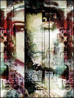 'People on the steps' von Gabi Hampe bei artflakes.com als Poster oder Kunstdruck $18.02