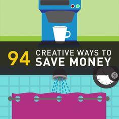 94 Creative Ways to Save Money Today