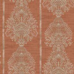 Silk Road Damask by Arthouse - Terracotta - Wallpaper : Wallpaper Direct Damask Wallpaper, Wallpaper Paste, Embossed Wallpaper, Wallpaper Panels, Adhesive Wallpaper, Wallpaper Roll, Cool Wallpaper, Designer Wallpaper, Pattern Wallpaper