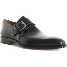 STEMAR Leather monk shoes (Black