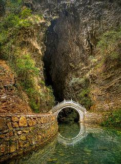 Moon Bridge, Zhangjiajie, Hunan, China  photo via besttravelphotos