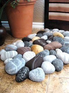 amazing fiber art, wool rocks, felted wool rocks