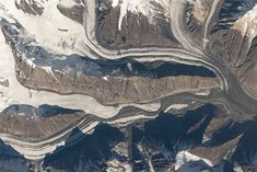 A Sign of Surging on Bivachny Glacier : Image of the Day : NASA Earth Observatory Johnson Space Center, Remote Sensing, Plate Tectonics, Climate Change Effects, Image Of The Day, Snow And Ice, Central Asia, Nasa, Earth