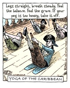 Yoga of the Caribbean (yoga fun, humour & laughter) .... #yogafun #yogacartoon #yogahumour #yoga #om #yogahumor