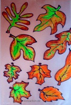 kidsaction.de BASTELN - herbstliches Window Color