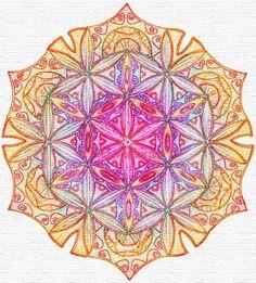 Flower of Life 14, Sacred Geometry, Islamic art