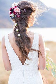 Inspiration für Bohohochzeiten im Indian Summer Look Boho Hairstyles, Wedding Hairstyles, Elope Wedding, Dream Wedding, Boho Bridal Hair, Best Bride, Bridal Hair Inspiration, Bridal Tips, Braut Make-up