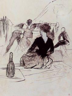 Au bal de by Henri de Toulouse-Lautrec Manet, Renoir, Henri De Toulouse Lautrec, European Paintings, Impressionist Art, Canadian Artists, Online Art Gallery, Art Museum, Black And White