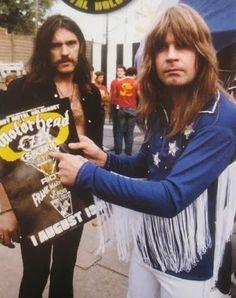 Lemmy Kilmister and Ozzy Osbourne