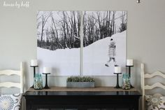 Turn your own photos into canvas art. | 23 Home Decor DIYs For People Who Are Scared Of Power Tools