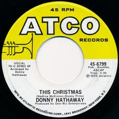 """This song is sure to put you in the holiday mood! What a great voice Donny Hathaway had. He is sorely missed. Many a singer has butchered """"This Christmas"""", so do yourself a favor and vibe on the original."""