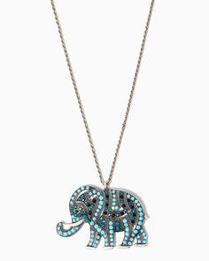 charming charlie | Bombay Bling Elephant Necklace | UPC: 410007059183 #charmingcharlie