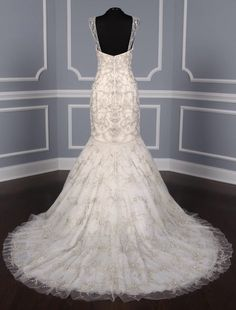 """This 100% Authentic, New Kenneth Pool Gabrielle K438 Discount Designer Wedding Dress is such an incredible work of art! The embroidered & beaded tulle fabric is absolutely amazing!! You will definitely """"wow"""" your wedding guests when you walk down the aisle in this stunning creation. Now up to 90% Off Retail! #kennethpool"""