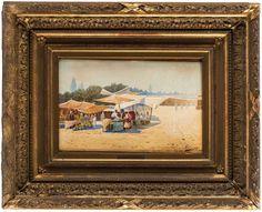 RICHARD KARLOVICH ZOMMER (RUSSIAN 1866-1939)  Watermelon Sellers, Bukhara, 1903  watercolor on paper