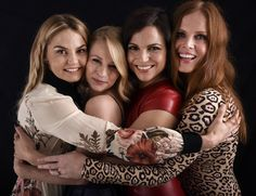 """""""The ladies of @OnceABC in our #SDCC @ShutterstockNow portrait studio! #OUAT"""" - TVLine via Twitter."""