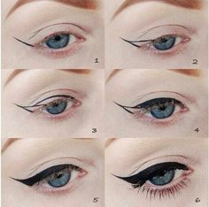 The winged eyeliner can be a struggle for some. Hope this helps you out