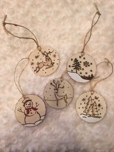 A personal favorite from my Etsy shop https://www.etsy.com/listing/257587056/wood-burned-christmas-ornaments-rustic