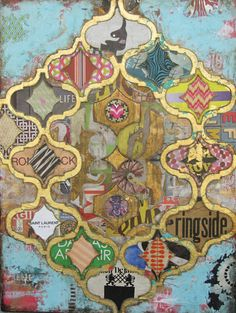 "Superstar by Jill Ricci, mixed media on canvas, 40""x30"""