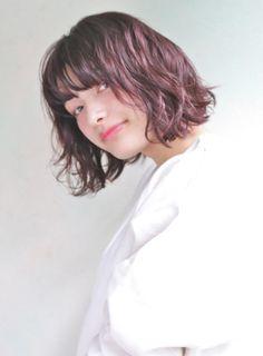 【ボブ】かわいいパーマ.ルビーヴァイオレット/DECOの髪型・ヘアスタイル・ヘアカタログ|2016冬春