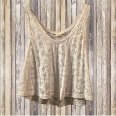 Floral Crop Top Cute sheer floral crop top LA Hearts Tops Crop Tops