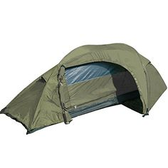 Cover: Mil-Tec Recon One-man Tent, Olive. One man tent in a compact, wind & storm proof form. Ideal for summer camping, fishing or festivals Zipper at the entrance allows for easy access. Storage space for equipment in the hall Right & left ventilation h Best Tents For Camping, Camping Glamping, Camping Life, Camping Gear, Hiking Tent, Ultralight Backpacking, One Man Tent, Best Home Gym, Tent Poles