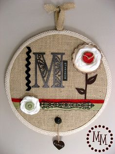I love embroidery hoop art! Especially monogrammed!