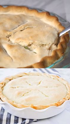 This homemade chicken pot pie is to die for! A great household hit that'll have your family going back for seconds in no time. Nothing beats a warm, comforting slice of pot pie! Homemade Chicken Pot Pie, Chicken Recipes, Turkey Dishes, Food Videos, Recipe Videos, Cooking Recipes, Pie Recipes, Drink Recipes, Dinner Recipes