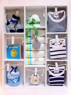 Gevulde Letterbak Kraamcadeau Jongetje. Babyshower Gift Boy. Info: https://joleenskraamcadeaus.wix.com/kraamcadeau#!product/prd1/1687017515/gevulde-letterbak