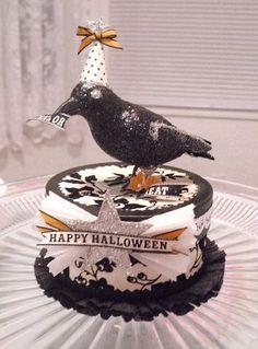 halloween  paper mache boxes | Paper mache Halloween box.