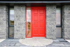 For Scandinavian windows & doors get in touch with Rationel. We believe in quality, aesthetically beautiful windows & doors that are built to last for decades. Scandinavian Windows And Doors, Door Ideas, Garage Doors, Heaven, Barn, Building, Outdoor Decor, Red, Beautiful