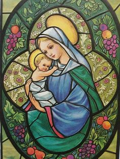 Mother Mary and Child Jesus Religious Pictures, Jesus Pictures, Religious Icons, Religious Art, Blessed Mother Mary, Blessed Virgin Mary, Mother And Child Painting, Christian Artwork, Mama Mary
