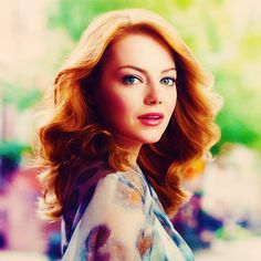 Emma Stone ° Still unsure about these kinds of reds, but I love her hairstyle. SR <3