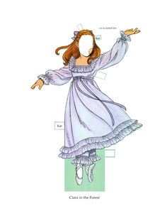 """Nutcracker Ballet [or Kati, the Nutcracker Ballerina]  Paper Doll"" by Tom Tierney, Dover Publications (4 of 8)"