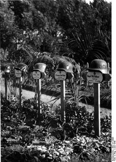 Graves of German soldiers Willi Feilhauer, Robert Rieger, and others in France, Jun 1940