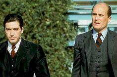 """Al Pacino and Robert Duvall - """"Ojciec chrzestny II"""" /The Godfather: Part II The Godfather Part Ii, Godfather Movie, Marlon Brando, Mafia, Young Al Pacino, Corleone Family, Love Actually 2003, Carlito's Way, Talia Shire"""