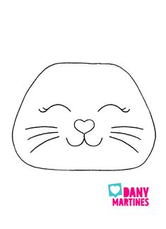 Molde rosto de gatinho para estojo kawaii