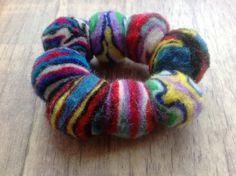 £3.00 Funky felt bracelet with jazzy multi-coloured balls on an elasticated band.  #Fairtrade #Felt #Nepal #Bracelet