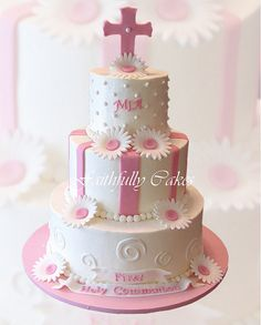 girls first communion cakes - Google Search