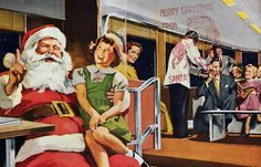 Retro Christmas...What is going on in this picture???
