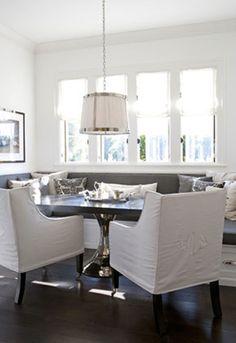 tim-clarke banquette seating in kitchen