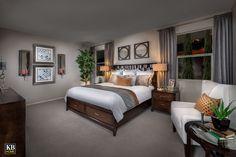 New Homes in Surprise, AZ - Villas at Sycamore Farms Plan 1551 Master Bedroom Cozy Bedroom, Master Bedroom, Bedroom Ideas, Warm Colors, Neutral Colors, Sycamore Farms, Farm Plans, Kb Homes, Phoenix Homes