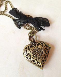 montre a gousset coeur bronze nostalgique