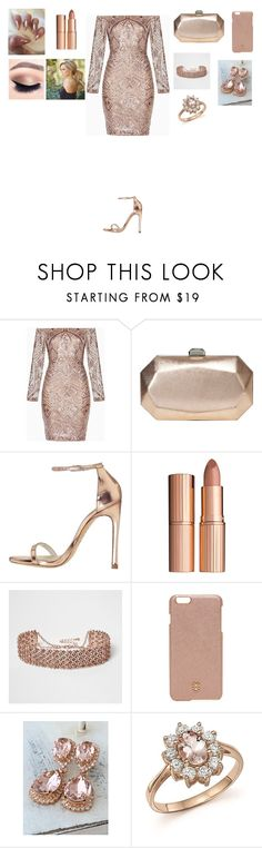 """Untitled #209"" by warrior98 ❤ liked on Polyvore featuring BCBGMAXAZRIA, Nine West, Stuart Weitzman, Charlotte Tilbury, River Island, Tory Burch and Bloomingdale's"