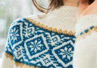 Genser med rundfelling til dame Knitting Charts, Knitting Patterns, Knitting Projects, Crochet Projects, Fair Isle Pattern, Fair Isle Knitting, Yarn Crafts, Knitwear, Free Pattern