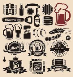 Vecteurs similaires à 83362132 Craft beer labels.