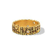 Alex Sepkus Open Oval Wedding Band in 18k Yellow Gold - Lux Bond & Green