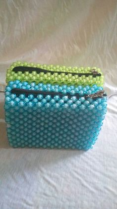 Beaded Purses, Beaded Bags, Beaded Jewelry, Kandi, Projects To Try, Coin Purse, Hobbies, Ipad, Pouch