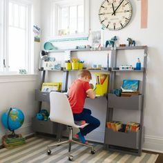 Little Sloane Leaning Bookcase (Grey)  | The Land of Nod